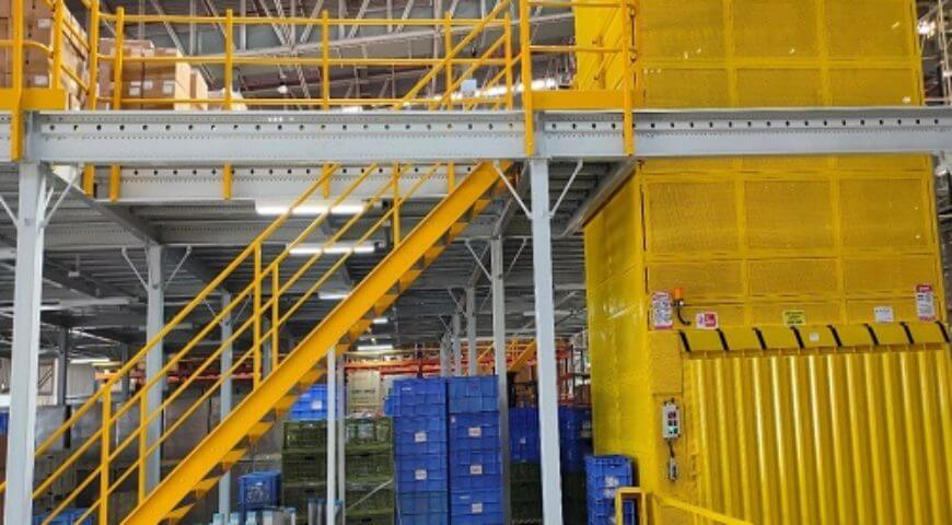 Mezzanines on Shop Floor